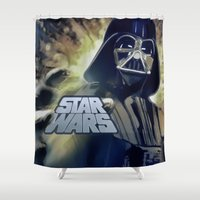 vader Shower Curtains featuring Vader by DisPrints