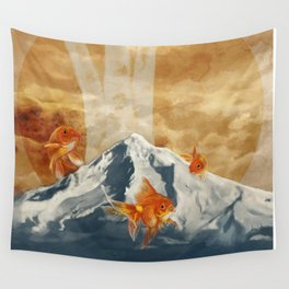 The Fish of Mt Hood Wall Tapestry