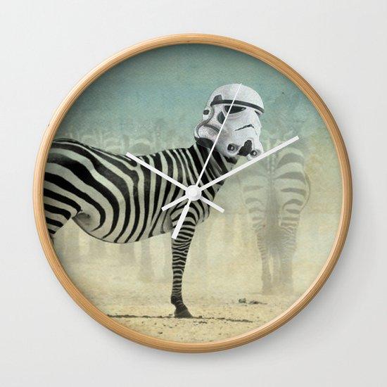 Trooper Stripes  _ Star Wars _ Zebra Wall Clock