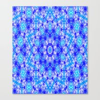 snowflake Canvas Prints featuring Snowflake by Kimberly McGuiness