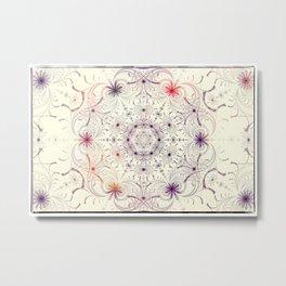 Antiqued Fractal Mandala 2 Metal Print