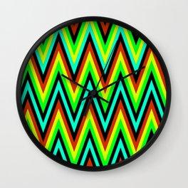 Zig Zags Wall Clock