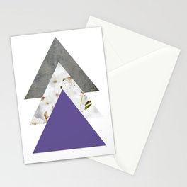 Ultra Violet Blossoms Arrows Stationery Cards