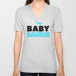 Baby Saurus Boy Girl Kids Dino Dinosaur T-Rex Gift Unisex V-Neck