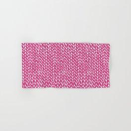 Hand Knit Hot Pink Hand & Bath Towel
