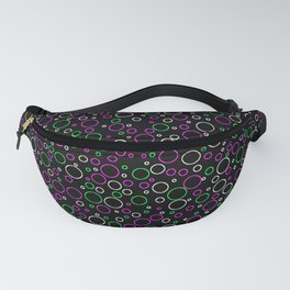 Polka Dot Party: Outlines on Black Fanny Pack