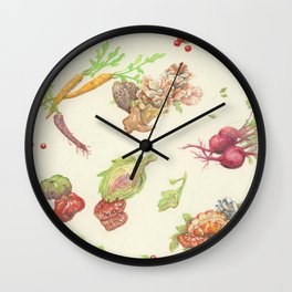 Fall Food Wall Clock