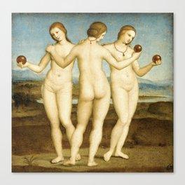 Three Graces (Raphael) Canvas Print