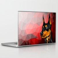 doberman Laptop & iPad Skins featuring Doberman by Ruveyda & Emre
