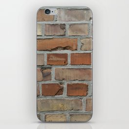 Vintage red brick wall texture iPhone Skin