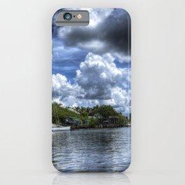 USA Everglades Florida HDRI Nature Rivers Marinas Clouds HDR Pier river Berth iPhone Case