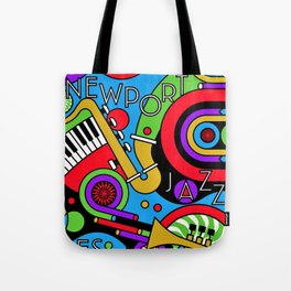 Vintage 2017 Newport, RI Jazz Festival - Fort Adams - Lithograph Advertisement Poster Tote Bag