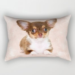 Cute Chihuahua Puppy Rectangular Pillow