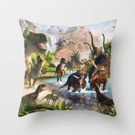 Jurassic dinosaur Throw Pillow