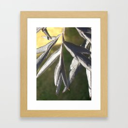 black leaves Framed Art Print
