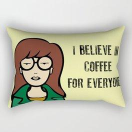 I Believe in Coffee Rectangular Pillow