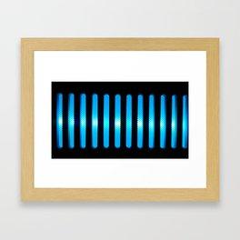 Blue Power Up Framed Art Print