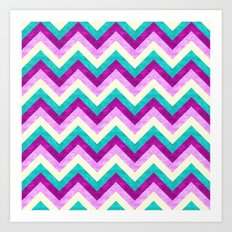 Chevron Jewel Art Print