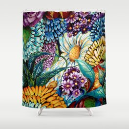 Flowers and Wild Nature Shower Curtain
