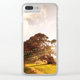 Pohutukawa swing tree Clear iPhone Case