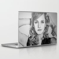 emma watson Laptop & iPad Skins featuring Emma Watson by Lindsay Hall
