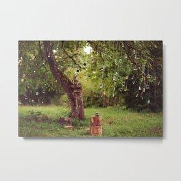 Polaroid Tree Metal Print