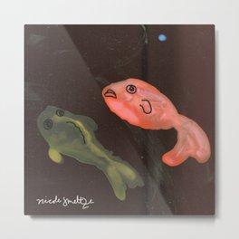 Fish in Dark Water Metal Print