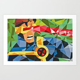 Geometric Superhero Art Print