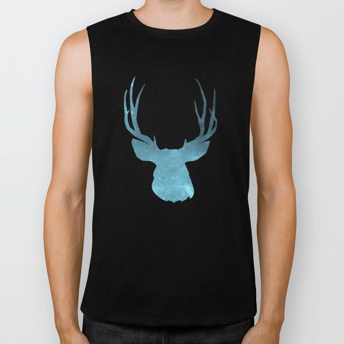 Deer head and stag simple illustration Biker Tank