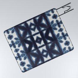 Blue Pima Shibori Picnic Blanket