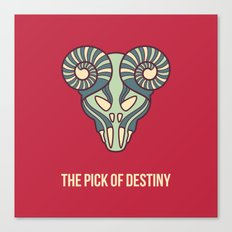 the pick of destiny Canvas Print