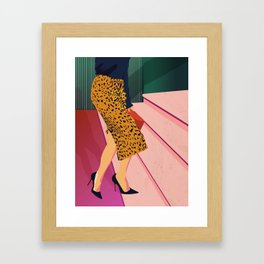 Just steppin' in, and you`re gonna hear me Roar - Fashion illustration Framed Art Print
