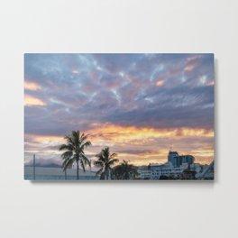 Beautiful Sunrise View in New Caledonia Metal Print