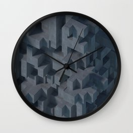 Concrete Abstract Wall Clock