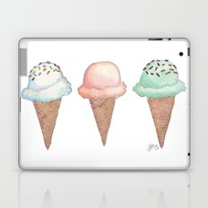 Three Ice Cream Cones Laptop & iPad Skin