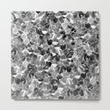 Black and White Abstract Mermaid Scales Pattern by oursunnycdays