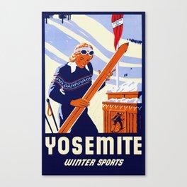 Yosemite Winter Sports Travel Canvas Print