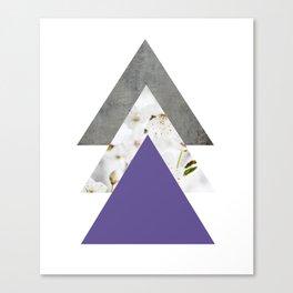 Ultra Violet Blossoms Arrows Canvas Print