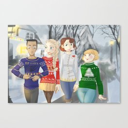 Holiday Sweaters Canvas Print