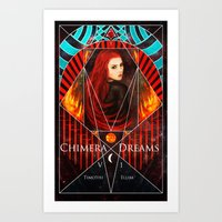 book cover Art Prints featuring Chimera Dreams Book Cover by Timothi Ellim