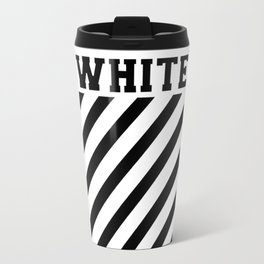 off white Travel Mug
