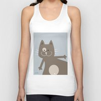 my mad fat diary Tank Tops featuring Fat Cat by nellifant