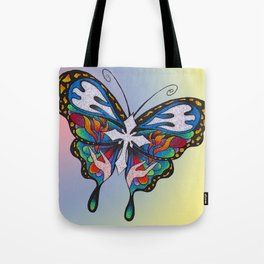 Christianity Themed Butterfly Art Tote Bag