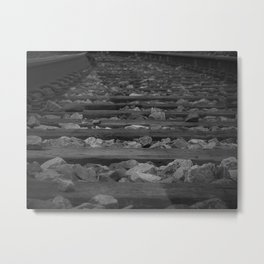 These Lonely Tracks Metal Print