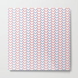 heartbeat pattern Metal Print
