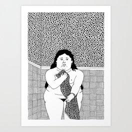 Woman in bath. Botero Art Print