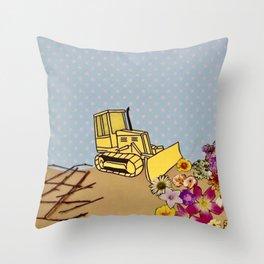 Natural Destruction Throw Pillow
