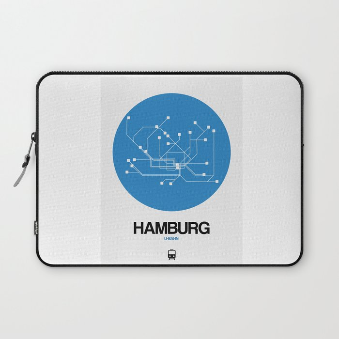Hamburg Subway Map.Hamburg Blue Subway Map Laptop Sleeve By Naxart