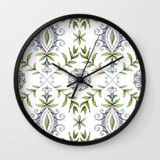 Nature's Damask Wall Clock