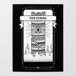 The Tower Tarot Card Poster